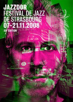 Jazzdor 2008, Festival de Jazz de Strasbourg #poster #typography #design