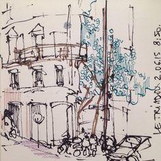 Boulevard Haussman, double spread partI #sketch #blackandwhite #ink #deatramentis #usk #paris #parisjetaime