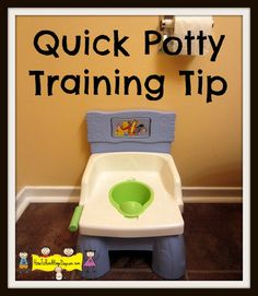 Quick Potty Training Tip So simple but also very helpful!