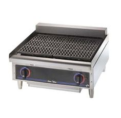 "Star Star-Max Charbroiler 24"" - 5124CD    Star-Max Charbroiler, electric, 24""L, infinite control for each 12"" of surface, removable cast iron grids, swing-up heating element, removable water pan, 4"" adjustable legs, stainless steel construction"