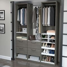 "Bestar Cielo Elite Reach 58.5"" W Closet System Finish:"