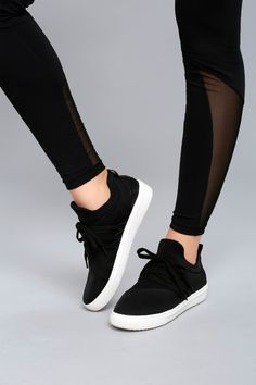 Steve Madden Lancer Black Sneakers