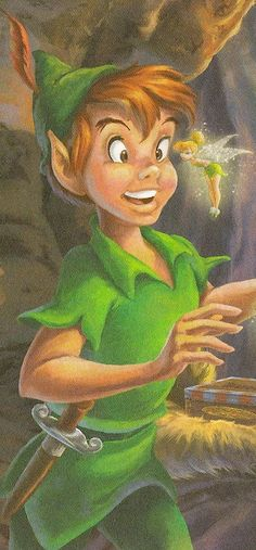 ✶ Peter Pan Is startled by Tinkerbell ★