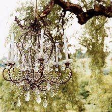 ZsaZsa Bellagio: French, Shabby Home Inspiration Chandelier. Outdoor Chandelier, Vintage Chandelier, Chandelier Tree, Chandelier Wedding, Chandelier Lighting, Pink Cupcakes, Chic Wedding, Wedding Ideas, Dream Wedding