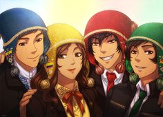 +LH: Andean Community of Nations+ by kuraudia (Latin Hetalia: Ecuador, Colombia, Peru, and Bolivia)
