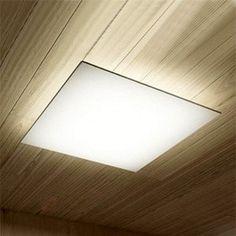 Afwasbare plafondlamp Plane, hoekig 7015002