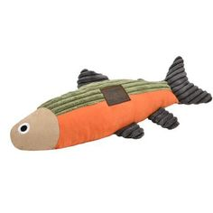 """Plush Fish With Squeaker - 12"""" Best Dog Toys, Best Dogs, Modern Dog Toys, Cuddles And Snuggles, Orange Fish, Interactive Toys, Dog Accessories, Large Dogs, Dog Life"""