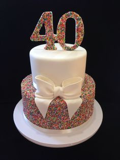 Birthday Cake Love This Look Hundreds And Thousands Made By Melbourne Ms Distinctivs 40th Party Ideas