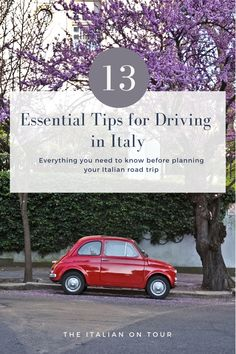 Planning an Italian road trip? Here's everything you need to know about driving in Italy. Plus 13 travel tips from a local. Read more about driving in Italy Italy Travel Tips, Free Travel, Driving In Italy, Italy Destinations, Us Road Trip, Small Group Tours, Italy Tours, Plan Your Trip, Travel Advice