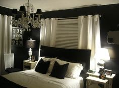 Black And White Bedroom Ideas For Young Adults. There's something about black that I love in the bedroom and bathroom. The chandelier adds a touch of elegance to the space.