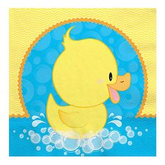 Ducky Duck - Birthday Party Luncheon Napkins - 16 ct   BigDotOfHappiness.com