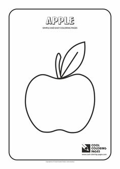 simple and easy coloring pages for toddlers apple