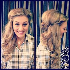 Side swept prom style with vintage accents