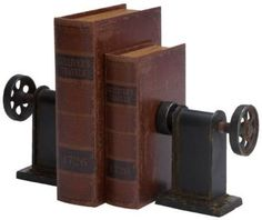 Industrial Bookends - Set of 2 - Bookends - Home Accents - Home Decor   HomeDecorators.com