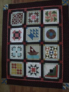 I took a block of the month class at a quilt shop called Quilts Etc. We made blocks from the Underground Railroad quilt. Quilting Tutorials, Quilting Projects, Quilting Designs, Sewing Projects, Sewing Tips, Sampler Quilts, Amish Quilts, Barn Quilts, Colchas Country