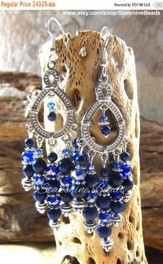 ON SALE Lapis Lazuli Earrings Lapis Earrings by StarshineBeads
