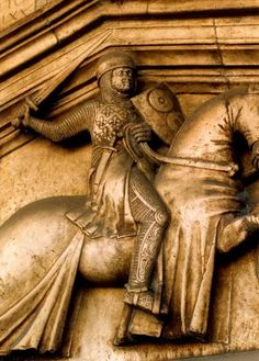 tomb of Guillame du Durfort French commander of the Florentine army at battle of Campaldino - 1289 Medieval Art, Medieval Times, Arming Sword, Types Of Swords, Medieval Paintings, Cemetery Art, Beautiful Nature Wallpaper, Effigy, Knights Templar