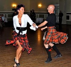Scottish dance...well, they are Scottish and they are dancing, so... close. ...Carol