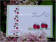 CoupesEtDecoupes - Stampin'Up Independant Demonstrator Paris (France) - May 2016 - Love you lots Stampin'Up