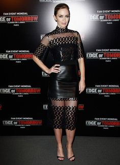 Fabulously Spotted: Emily Blunt Wearing David Koma - 'Edge Of Tomorrow' Paris Photocall - http://www.becauseiamfabulous.com/2014/06/emily-blunt-wearing-david-koma-edge-of-tomorrow-paris-photocall/