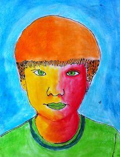 Princess Artypants: Visual Arts in the PYP: Giant Pop Art Portraits Pop Art Portraits, Portrait Art, Portrait Ideas, 7th Grade Art, High Art, Jr High, High School Art, Middle School, Ipad Art