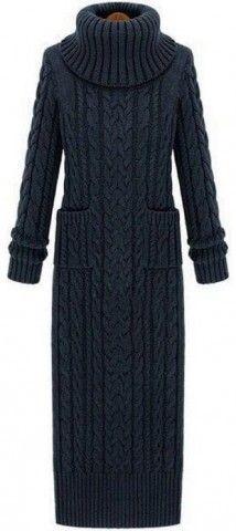 Элегантное вязаное платье