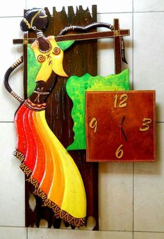 Paper Bag Crafts, Clay Crafts, Arts And Crafts, Mural Painting, Mural Art, Paintings, Clay Wall Art, African Crafts, Iron Wall Decor