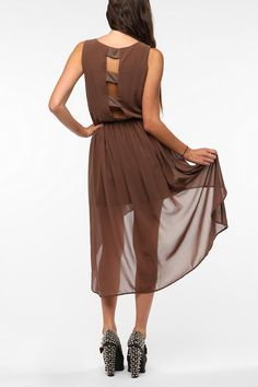 Chiffon Open Back High/Low Dress  #UrbanOutfitters i think i might be obsessed with chiffon...