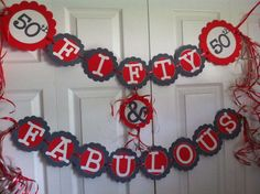 50th Birthday Decorations Party Banner  Fifty ...