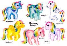 The yellow one is Sky Dancer.  She was my first pony toy!