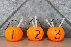 mini plastic pumpkin activities