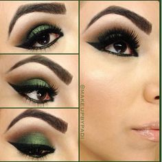 Smoky green eyes. If you want to do this kind of Makeup on your eyes. Pure Anada can propose you to use its own products. For this one we can advise you to use: Evergreen color and Beige Shimmer color.