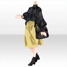 Anime Outfits, Cool Outfits, Chibi Hair, Manga Clothes, Hair Sketch, Clothing Sketches, Cool Anime Girl, Anime Dress, Dress Drawing