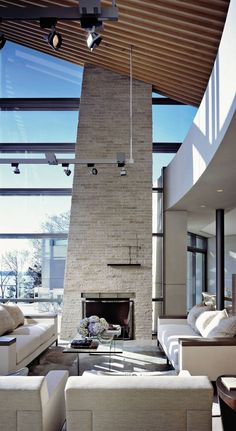Contemporary Living Room Design by Dineen Architecture