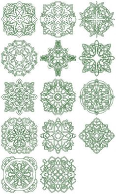 Celtic embroidery design