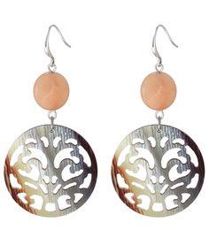 Bruine mooie oorbellen met steen voor 8,95 per paar