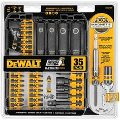Minimizes Drops & Reduces Wobbles Reduce Breakagelong Life 35 Pieces10x Magnetic Screw Lock. Dewalt 35-piece Impact-ready Screwdriver Set by My Custom Made. #myCustommade