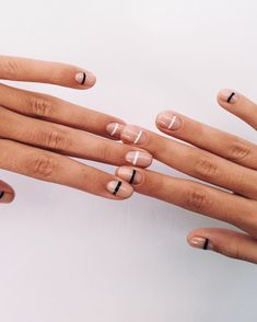 Have you heard of the idea of minimalist nail art designs? These nail designs . - Have you heard of the idea of minimalist nail art designs? These nail designs …, - Fancy Nail Art, White Nail Art, Fancy Nails, Pretty Nails, Black White Nails, Gorgeous Nails, Nail Art Designs, White Nail Designs, Nails Design
