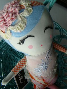 Vintage fabric dolls-how cute are these?