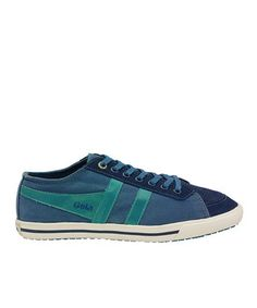 French Blue & Green Quota Sneaker