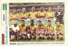 Brazil team group at the 1958 World Cup Finals.