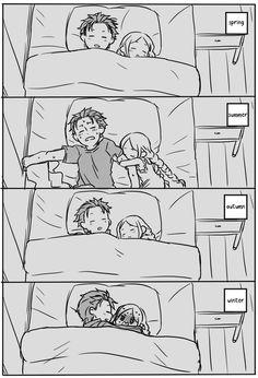 New Funny Cute Anime Kitty 44 Ideas Cute Couple Comics, Couples Comics, Cute Couple Art, Cute Comics, Cute Couples, Anime Couples Drawings, Anime Couples Manga, Anime Couples Cuddling, Anime Couples Sleeping