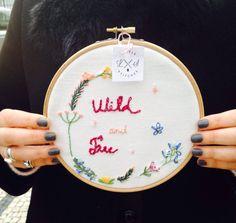 #Hoop #Embroidery #Handmade #Broder #Nedlework #Nedlepoint #Spring #Flowers #Cuteness ##Wild&Free #Bastidor #Feitoàmão #Agulha #Primaver