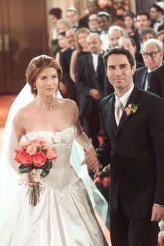 34 Of The Most Memorable Wedding Dresses In TV History #refinery29  http://www.refinery29.com/2015/09/93917/best-tv-show-wedding-dresses#slide-11  Grace Adler, Will & GraceSay yes to the dress, indeed. Will's BFF wed Leo in a gorgeous Vera Wang creation. ...