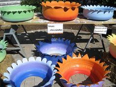 Great tyre planters and instructions on how to make them!