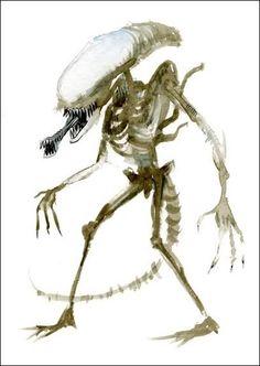 Allen - Doppelganger Print By Alex Pardee. Omg Posters, Alex Pardee, Predator 1, Alien Vs, Xenomorph, Monster Art, Fantastic Art, Sci Fi Art, Graffiti Art
