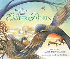 Almost Unschoolers: Fork Weaving - Easter Robins