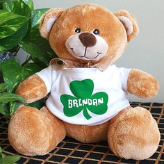 Personalized teddy bear makes great gifts to give and receive!