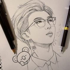 [orginial_title] – BTS {Awesome Leader Namjoon💜} this is probabaly my second fanart of… {Awesome Leader Namjoon💜} this is probabaly my second fanart of RM. Kpop Drawings, Pencil Art Drawings, Art Drawings Sketches, Drawing Bts, Fan Art, Bts Chibi, Kpop Fanart, Bts Pictures, Bts Wallpaper