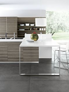 Fitted kitchen ARIEL - COMPOSITION 5 by Cesar Arredamenti